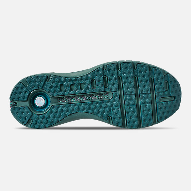 Bottom view of Women's Under Armour HOVR Phantom SE MD Running Shoes in Aure Teal/Black/Azure Teal