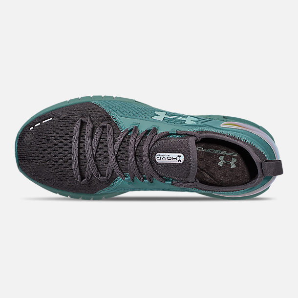 Top view of Women's Under Armour HOVR Phantom SE MD Running Shoes in Aure Teal/Black/Azure Teal