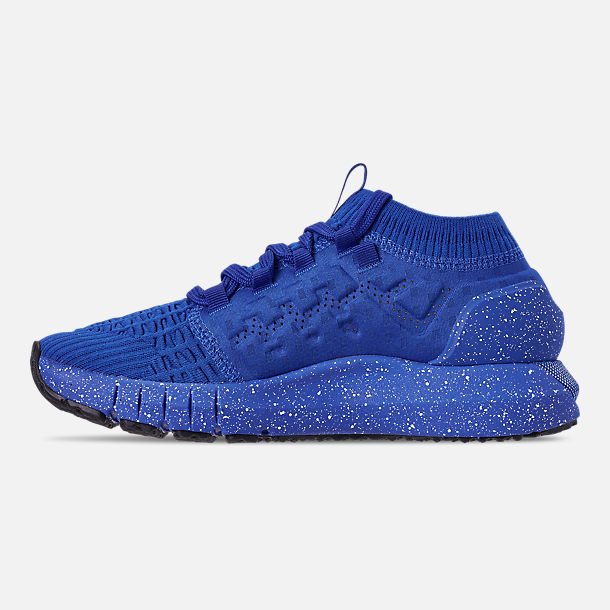 Left view of Men's Under Armour HOVR Phantom Connected Runnning Shoes in Royal/White