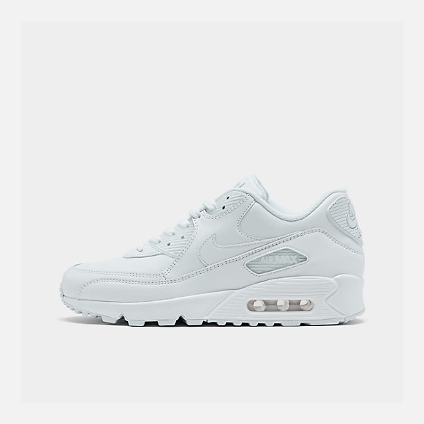 Right view of Men's Nike Air Max 90 Leather Casual Shoes in White