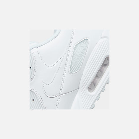 Front view of Men's Nike Air Max 90 Leather Casual Shoes in White