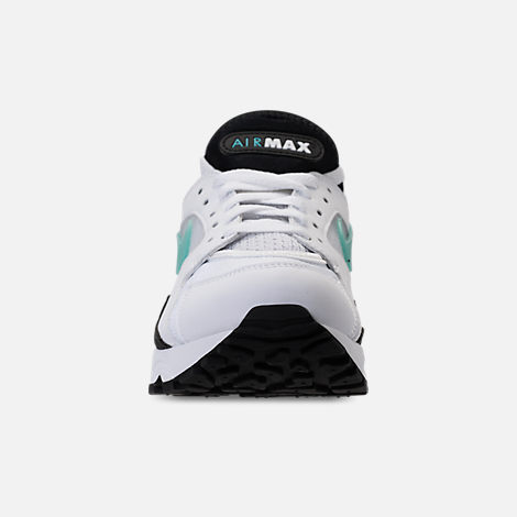 Front view of Women's Nike Air Max '93 Casual Shoes in White/Sport Turq