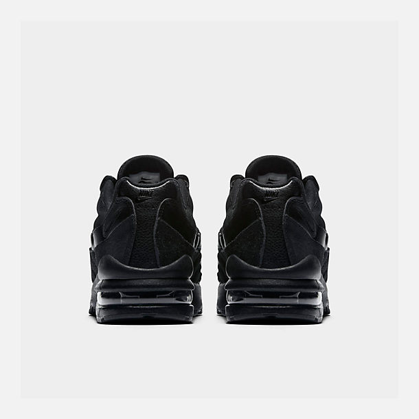 Left view of Boys' Big Kids' Nike Air Max 95 Casual Shoes in Black/Black/Black