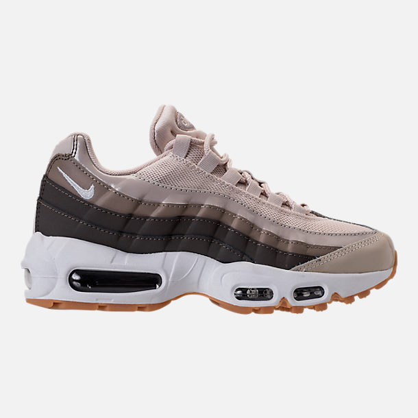 Right view of Women's Nike Air Max 95 Casual Shoes in Desert Sand/White/Moon Particle