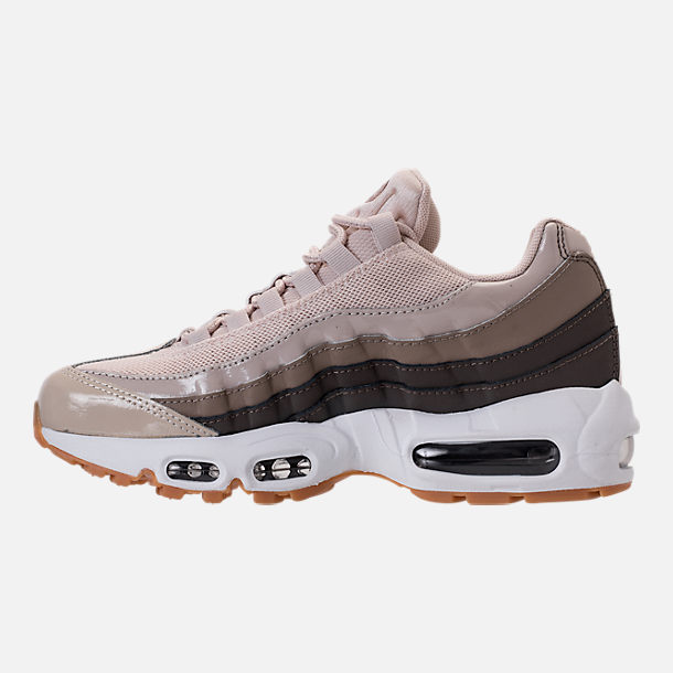 Left view of Women's Nike Air Max 95 Casual Shoes in Desert Sand/White/Moon Particle