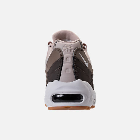 Back view of Women's Nike Air Max 95 Casual Shoes in Desert Sand/White/Moon Particle