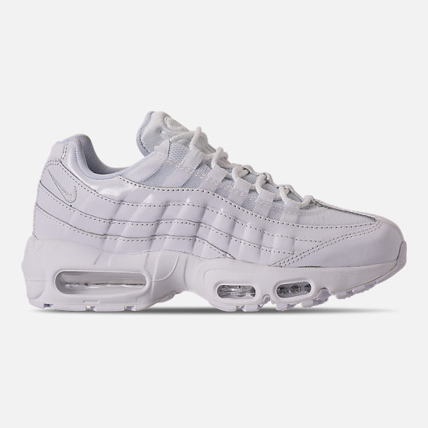 Right view of Womens Nike Air Max 95 Casual Shoes in WhiteWhiteWhite