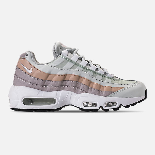 Right view of Women's Nike Air Max 95 Casual Shoes in Light Silver/White/Moon Particle