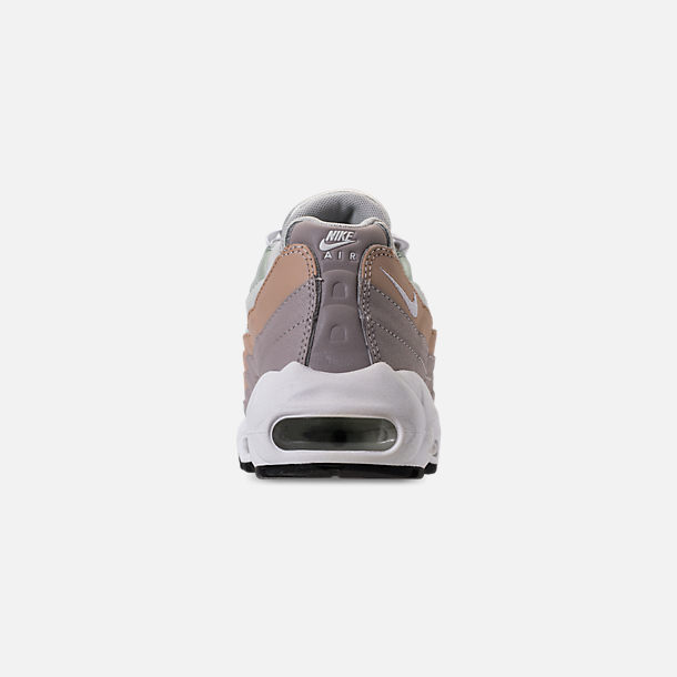 Back view of Women's Nike Air Max 95 Casual Shoes in Light Silver/White/Moon Particle