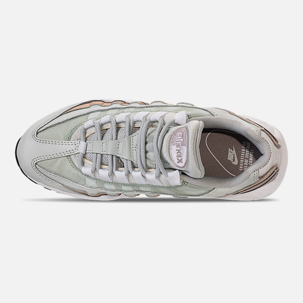 Top view of Women's Nike Air Max 95 Casual Shoes in Light Silver/White/Moon Particle