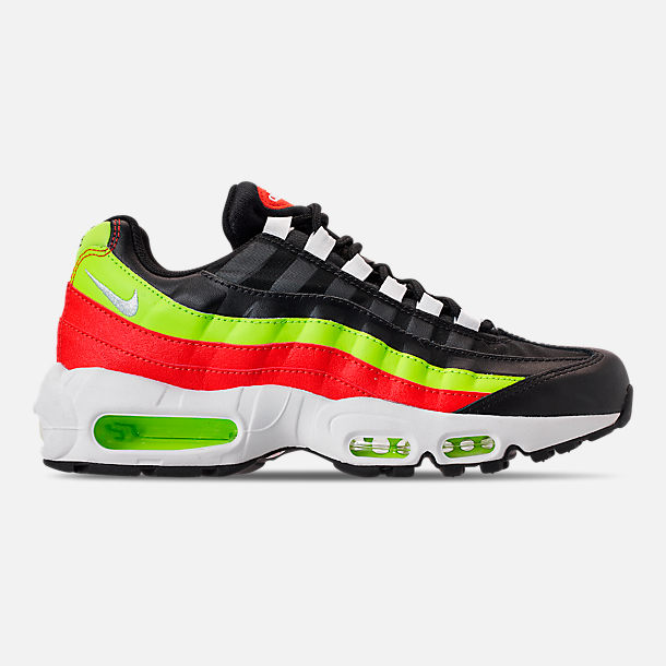 Right view of Women's Nike Air Max 95 Casual Shoes in Black/White/Habanero Red/Volight