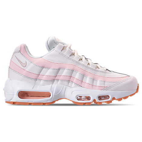 WOMEN'S AIR MAX 95 RUNNING SHOES, WHITE