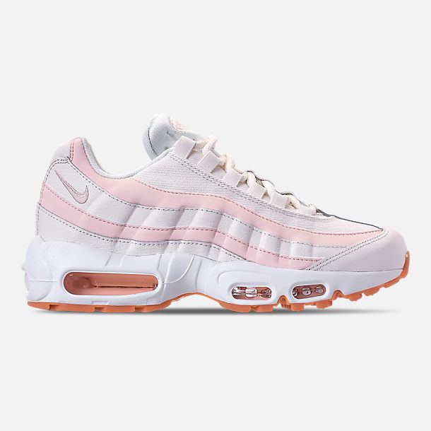 Right view of Women's Nike Air Max 95 Running Shoes in Sail/Guava Ice/Gum Light Brown