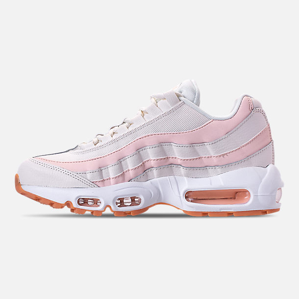 Left view of Women's Nike Air Max 95 Running Shoes in Sail/Guava Ice/Gum Light Brown