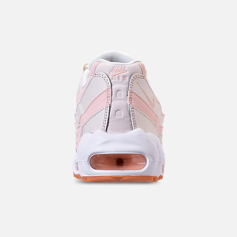 Back view of Women's Nike Air Max 95 Running Shoes in Sail/Guava Ice/Gum Light Brown