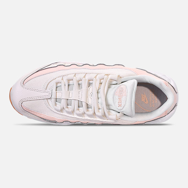 Top view of Women's Nike Air Max 95 Running Shoes in Sail/Guava Ice/Gum Light Brown