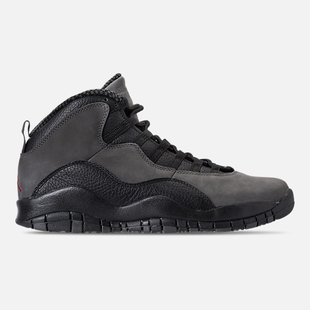 Right view of Men's Air Jordan 10 Retro Basketball Shoes in Dark Shadow/True Red/Black