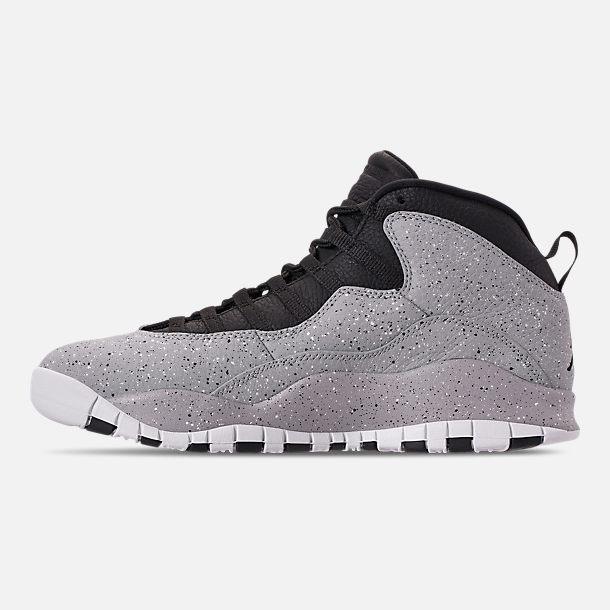 3ac6fde122fb ... low price left view of mens air jordan 10 retro basketball shoes in  light smoke grey