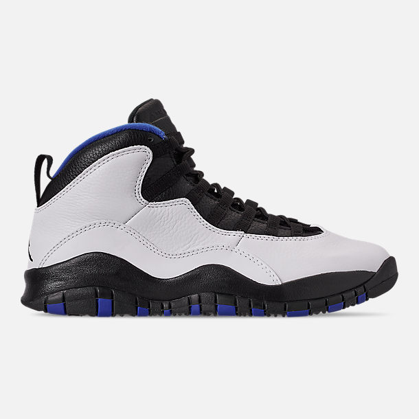 f37ad947267 Right view of Men s Air Jordan 10 Retro Basketball Shoes in  White Black Royal