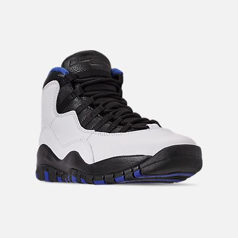 wholesale dealer cd883 379f0 Three Quarter view of Men s Air Jordan 10 Retro Basketball Shoes in  White Black