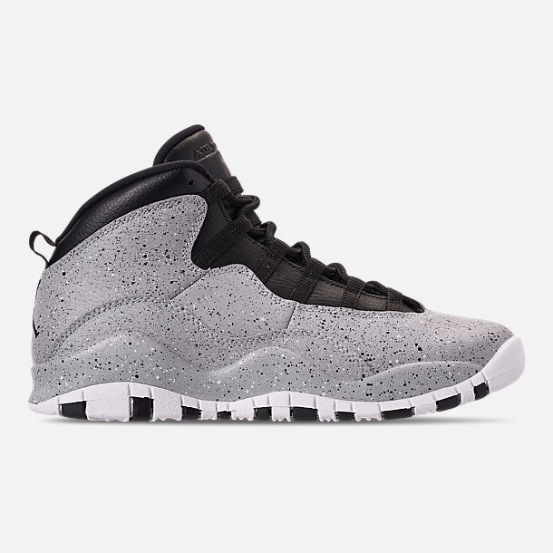 buy popular 5465d 1eeef Right view of Big Kids  Air Jordan Retro 10 Basketball Shoes in Light Smoke  Grey