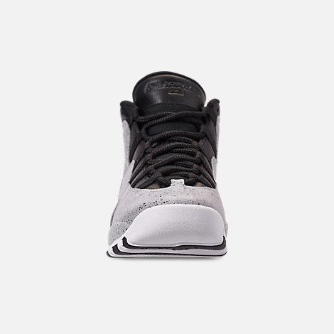 Front view of Big Kids  Air Jordan Retro 10 Basketball Shoes in Light Smoke  Grey 59922ef31b15