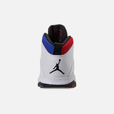 Back view of Little Kids' Air Jordan Retro 10 Basketball Shoes