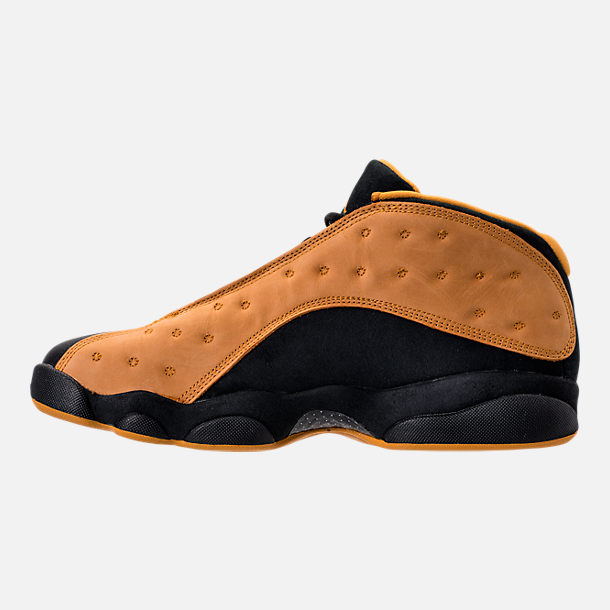 Left view of Men's Air Jordan Retro 13 Low Basketball Shoes in Black/Chutney