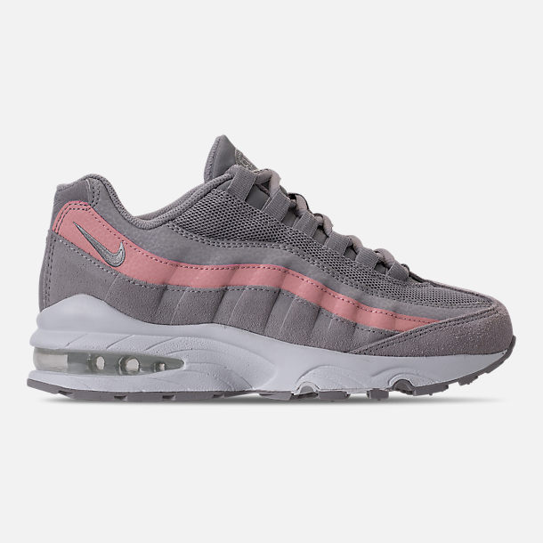 Right view of Girls' Big Kids' Nike Air Max 95 Casual Shoes in Atmosphere Grey/Atmosphere Grey