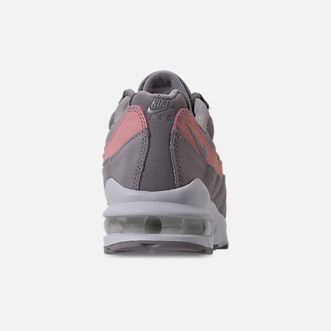 Back view of Girls' Big Kids' Nike Air Max 95 Casual Shoes in Atmosphere Grey/Atmosphere Grey