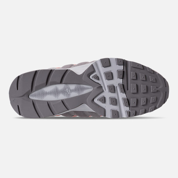 Bottom view of Girls' Big Kids' Nike Air Max 95 Casual Shoes in Atmosphere Grey/Atmosphere Grey