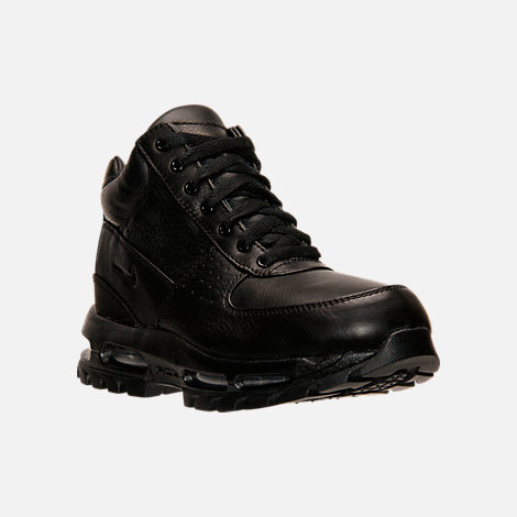 Three Quarter view of Kids' Nike Air Goadome Boots in Black