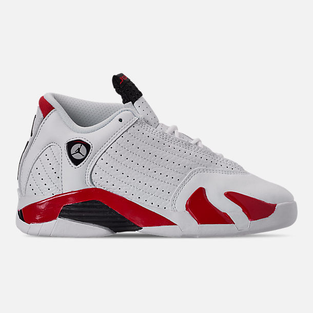 d3bfdeef3c5 Right view of Little Kids' Air Jordan Retro 14 Basketball Shoes in  White/Black