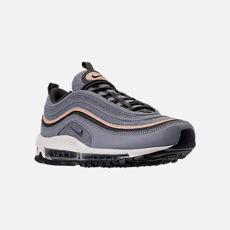 Three Quarter view of Men's Nike Air Max 97 Premium Casual Shoes in Cool  Grey/