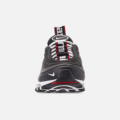 0e2fa184b92 Front view of Men s Nike Air Max 97 Premium Casual Shoes in Black White