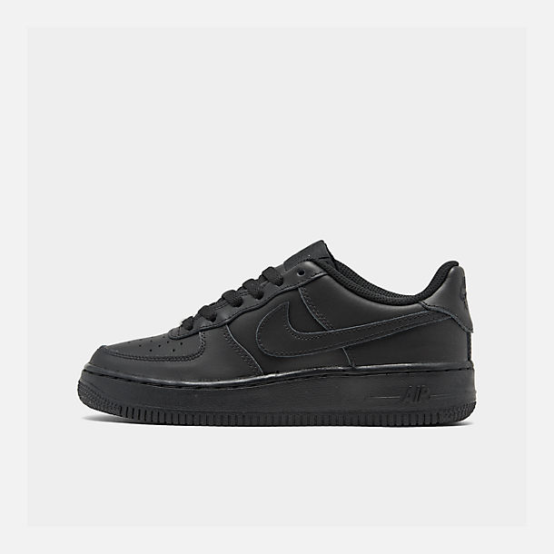 Right view of Big Kids' Nike Air Force 1 Low Casual Shoes in Black