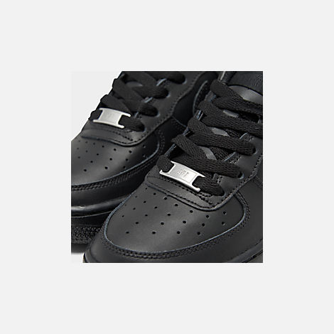 Front view of Big Kids' Nike Air Force 1 Low Casual Shoes in Black