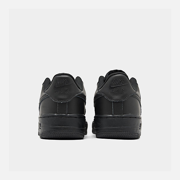Left view of Big Kids' Nike Air Force 1 Low Casual Shoes in Black