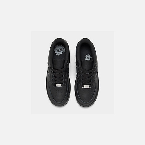 Back view of Big Kids' Nike Air Force 1 Low Casual Shoes in Black