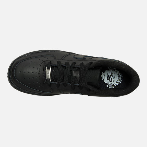 Top view of Big Kids' Nike Air Force 1 Low Casual Shoes in Black