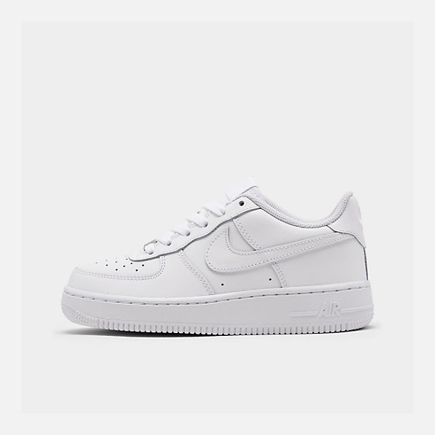 Right view of Big Kids  Nike Air Force 1 Low Casual Shoes in White 393560ce9b21