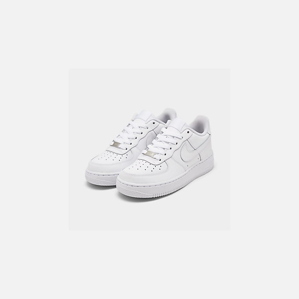 low priced b71d1 393f3 Three Quarter view of Big Kids  Nike Air Force 1 Low Casual Shoes in White