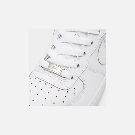 Front view of Kids' Grade School Nike Air Force 1 Low Casual Shoes in White