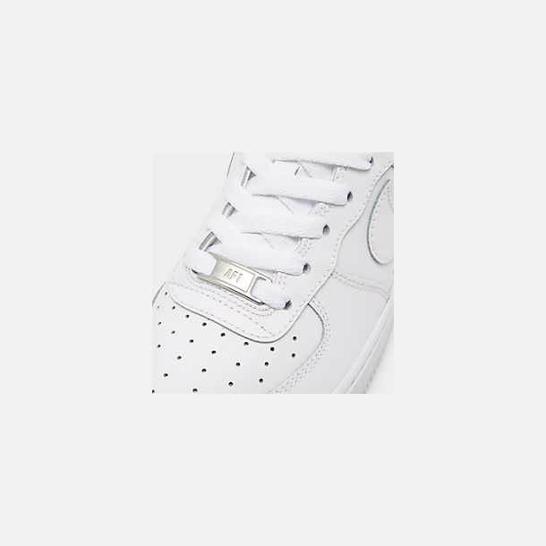 buy popular be4e1 6b9a8 Front view of Big Kids  Nike Air Force 1 Low Casual Shoes in White