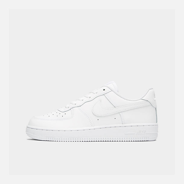Right view of Little Kids' Nike Air Force 1 Low Casual Shoes in White/White/White