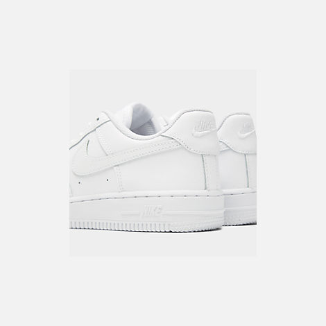 Front view of Little Kids' Nike Air Force 1 Low Casual Shoes in White/White/White