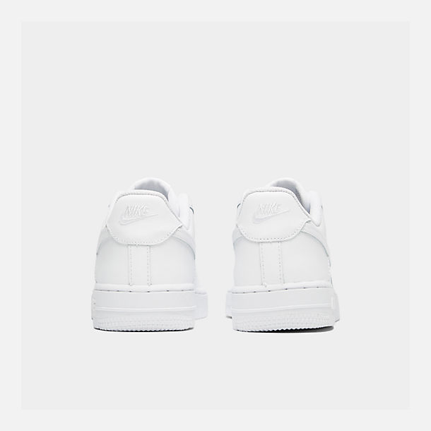 Left view of Little Kids' Nike Air Force 1 Low Casual Shoes in White/White/White