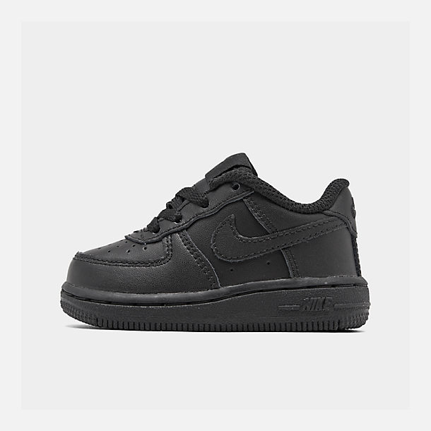 Right view of Kids' Toddler Nike Air Force 1 Low Casual Shoes in Black