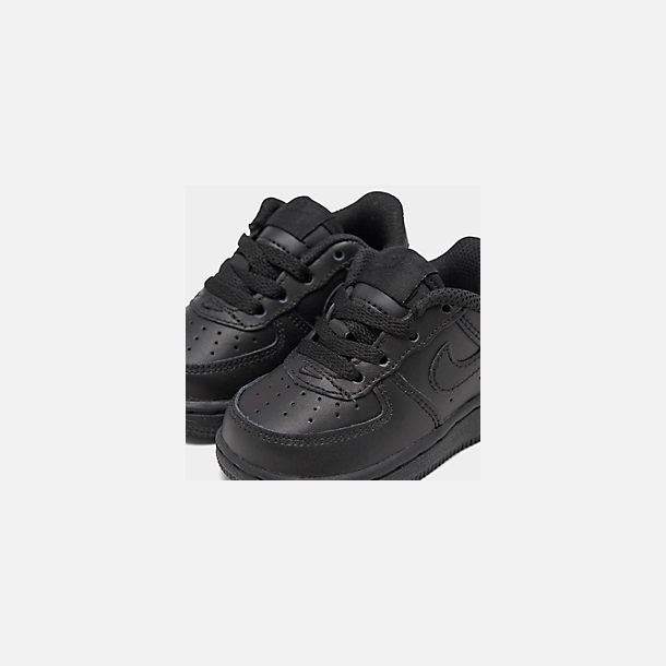 Front view of Kids' Toddler Nike Air Force 1 Low Casual Shoes in Black