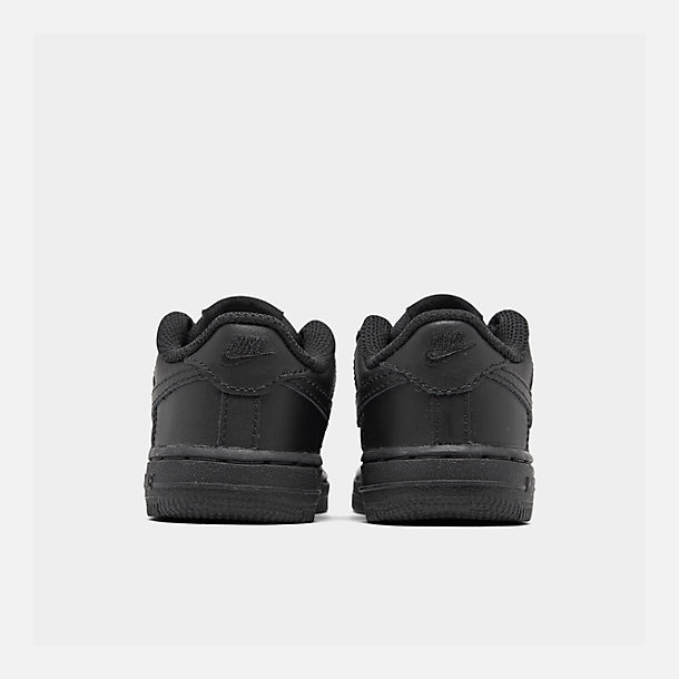 Left view of Kids' Toddler Nike Air Force 1 Low Casual Shoes in Black